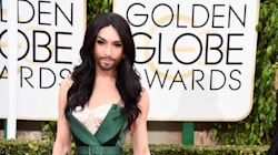 Golden Globes 2015: Une robe flamboyante pour Conchita Wurst