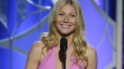 Gwyneth Paltrow Wows In Plunging Pink