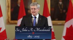 Harper Helps Celebrate 200th Anniversary Of Sir John A. Macdonald's