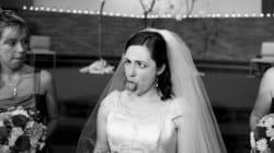 La grimace de cette mariée a bien fait rire les