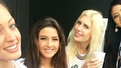 Miss Israël s'incruste sur un selfie, Miss Liban