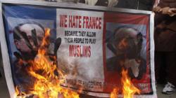 Nouvelles manifs anti-Charlie au Pakistan, des drapeaux français