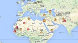 La carte des manifestations contre les