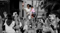 Amitabh Bachchan Takes Aaradhya Out To Meet Traditional Sunday Crowd Outside