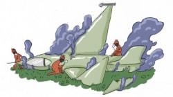 Le F-16 crashé en Espagne a eu une panne au