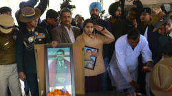 VIDEO: Heartbreaking Moment Daughter Of Army Officer Killed In Kashmir Shouts Regiment's War Cry, Breaks