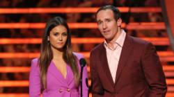 Nina Dobrev Rocks A Purple Suit Like A