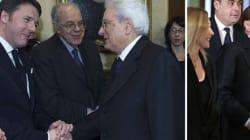 Sergio Mattarella giuramento: il siparietto birichino di Renzi e Berlusconi. Barzellette e gaffe per l'ex