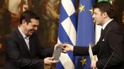Il patto della cravatta tra Renzi e Tsipras. Il consiglio di Matteo: parla con tutti i leader Ue (Merkel in