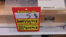 Liquidation chez Target: les rabais