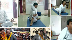 Kejriwal Gets A Haircut, Performs Yoga; Bedi Prepares Langar A Day Before