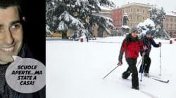 Parma sotto la neve e in tilt, bufera su Pizzarotti