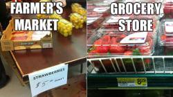 Un nouveau marché agricole à Attawapiskat vend de la nourriture