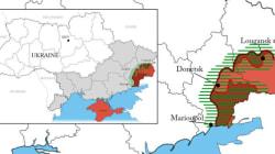 Les nouvelles frontières de l'Ukraine suite à l'accord (et celles