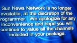 La chaîne Sun News est officiellement
