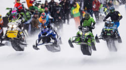 LOOK: More Than 1,000 Snowmobilers Out For A