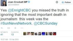 Une députée se prononce sur la mort «la plus importante» de la semaine en