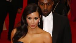 Kim Kardashian et Kanye West avec les yeux