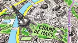 Découvrez cette carte de Paris entière faite à la