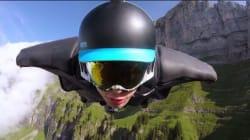 まるで本物の鳥。ウイングスーツを着た人間は、スイスの山だって飛べる(動画)
