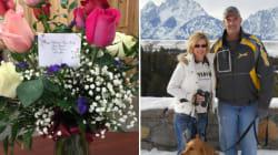 Après sa mort, il continue d'envoyer des fleurs à sa