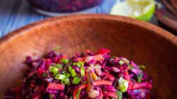 Salade de chou rouge aux lentilles et riz