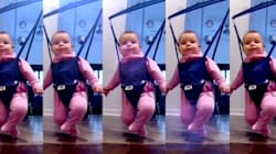 Un peu de montage vidéo et sa fille d'un an devient une danseuse