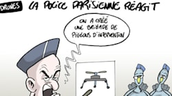 Drones: la police parisienne