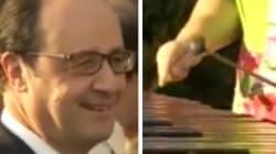 Du Joe Dassin au xylophone pour accueillir Hollande aux