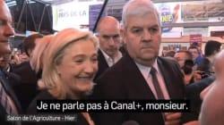 Au Salon de l'agriculture, Marine Le Pen refuse de répondre à