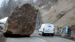 Eboulement en Savoie: la route vers Les Ménuires et Val Thorens