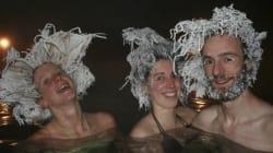 La follia dei partecipanti alla gara dei capelli ghiacciati in Canada fa il giro del