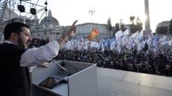 La piazza non spinge la Lega di Salvini