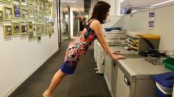 6 exercices à faire au bureau (sans avoir besoin de tenue de