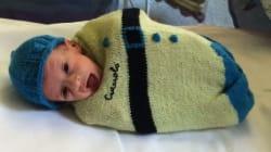 Le donne che sferruzzano per i bimbi prematuri