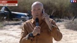 Louis Bodin s'explique sur son duplex devant les hélicoptères de