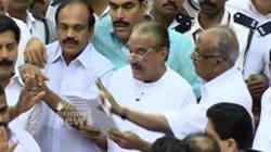 WATCH: Brawling Lawmakers Push And Shove Each Other Inside Kerala