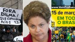 Manifestantes invadem as ruas neste domingo (15) contra governo