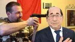Épinglé pour avoir mimé une exécution d'Hollande, ce candidat FN plaide