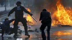 Le siège de la BCE inauguré sous les jets de pierres des