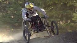 Cet homme en chaise roulante va vous