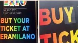 C'è un grosso errore in questo cartellone per l'Expo