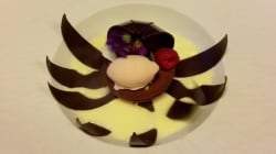 Voyez une fleur en chocolat s'épanouir sous vos