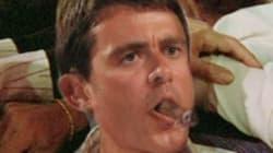 Valls fume un cigare pour fêter les résultats, les internautes