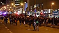 Manifestation nocturne à