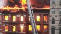 Incendie impressionnant en plein