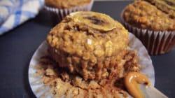 Muffins santé aux bananes, avoine et