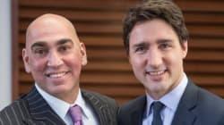 Le candidat libéral fédéral Max Khan est