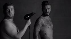 WATCH: David Beckham And James Corden Strip For Sexy (Fake) Underwear