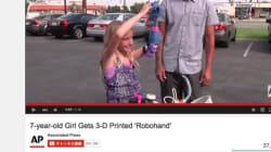 7歳の少女、3Dプリンター製の義手で自転車に乗る